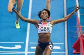 GOTHENBURG, SWEDEN - MARCH 3 Perri Shakes-Drayton (GBR) and her team win the women's 4x400m relay fi
