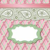Vintage Paisley Strip Lace And Tartan.design Template,artwork