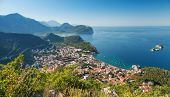 Adriatic Sea Coast. Landscape Of Petrovac Town, Montenegro