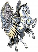 stock photo of winged-horse  - white pegasus - JPG