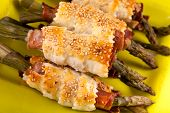 Asparagus Rolls With Ham And Puff Pastry