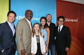LOS ANGELES - JAN 19:  Kyle MacLachlan, Delroy Lindo, Johnny Sequoyah, Jamie Chung, Jake McLaughlin,