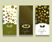 Coffee menu card design template. Vector illustration.