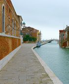 picture of arsenal  - Fondamenta Arsenale channel to the venetian arsenal in winter  - JPG