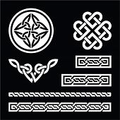 picture of celtic  - Set od traditional Celtic symbols in white and black - JPG