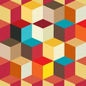 Colorful Cubes Seamless Pattern Background | EPS10 Vector Illustration
