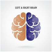 foto of left brain  - Creative left brain and right brain Idea concept background  - JPG