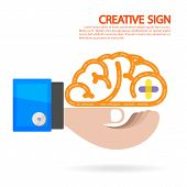 Creative brain and business concept