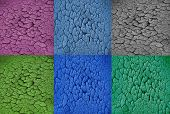 Colorful With Dry Soil Texture Background