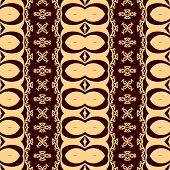 Seamless decorative pattern in a brown colors.
