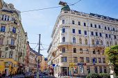 VIENNA, AUSTRIA-July 3 : old town main street on July 3, 2014.Vienna is the capital and largest city