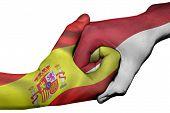 Handshake Between Spain And Indonesia