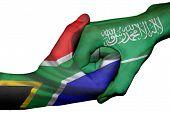 Handshake Between South Africa And Saudi Arabia