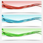 Bright Swoosh Lines Cards Set - Templates