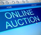 Online Auction Concept.