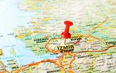 Izmir ,turkey  Map