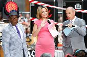 NEW YORK-JUL 22: (L-R) Al Roker, Savannah Guthrie and Matt Lauer on stage during NBC's 'Today Show'