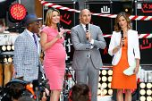 NEW YORK-JUL 22: (L-R) Al Roker, Savannah Guthrie, Matt Lauer and Natalie Morales on stage during NB