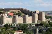 Medieval City Walls Of Avila, Spain