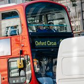 London Bus Going To Oxford Circus