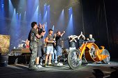FARO - JULY 19: First prize of the custom bikes award ceremony at the XXXIII - International Motorcycle Meeting in Faro, Portugal, July 19, 2014
