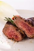 Succulent Medium Rare Beef Steak