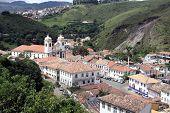 The colonial village Ouro Preto in Brazil