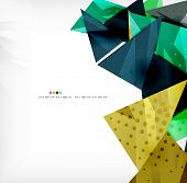 3d futuristic shapes abstract background made of glossy pieces with light effects and textured surfa