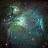 Orion Nebula In Deep Space.