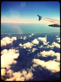 View from a airplane - instagram effect
