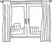 Black Outline Windows