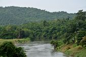 The river for kanjanaburi in thailand.