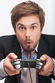 man and gaming
