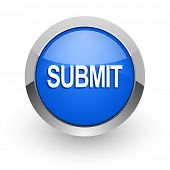 submit blue glossy web icon