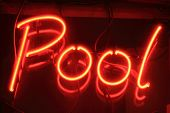 pool neon sign