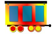 Multi-colored Train Car