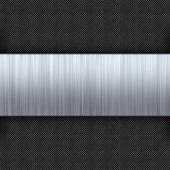 Fibra de carbono de Metal cepillado
