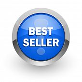 best seller blue glossy web icon