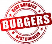 Vector Best Burger Stamp
