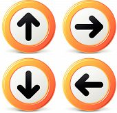 Vector Orange Arrows Icons