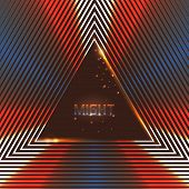 Abstract Vector Background Of Shining Triangles