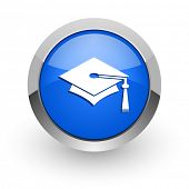 picture of toga  - education blue glossy web icon - JPG