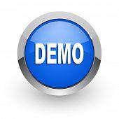 demo blue glossy web icon