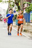 Running Athletes In Mini-marathon Race