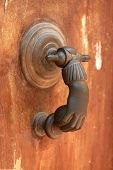 ancient door knocker.