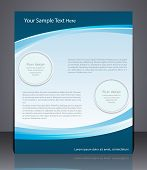 Vector Layout Business Flyer, Magazine Cover, Template Or Corporate Banner Design  In Blue Colors.