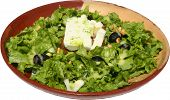 picture of lenten  - Fresh and tasty green salad with cheese and olives - JPG
