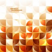 Modern geometrical abstract background in brown. eps 10