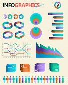 Vintage infographics set. Information Graphics