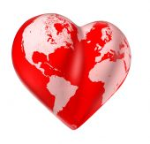 pic of loveless  - Heart world map of love Valentine planet - JPG